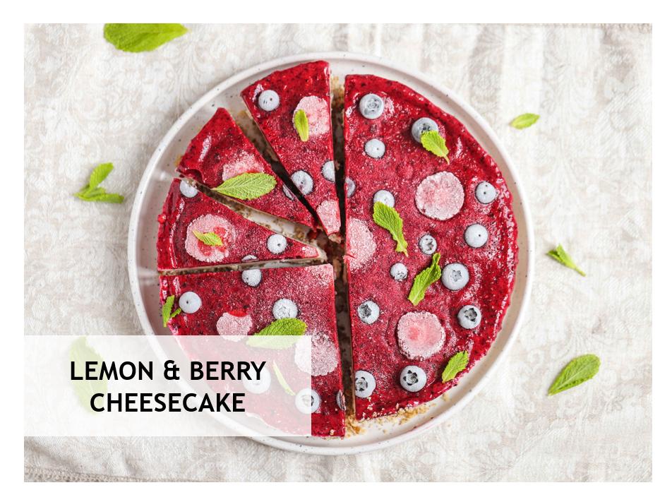 Lemon & Berry Cheesecake